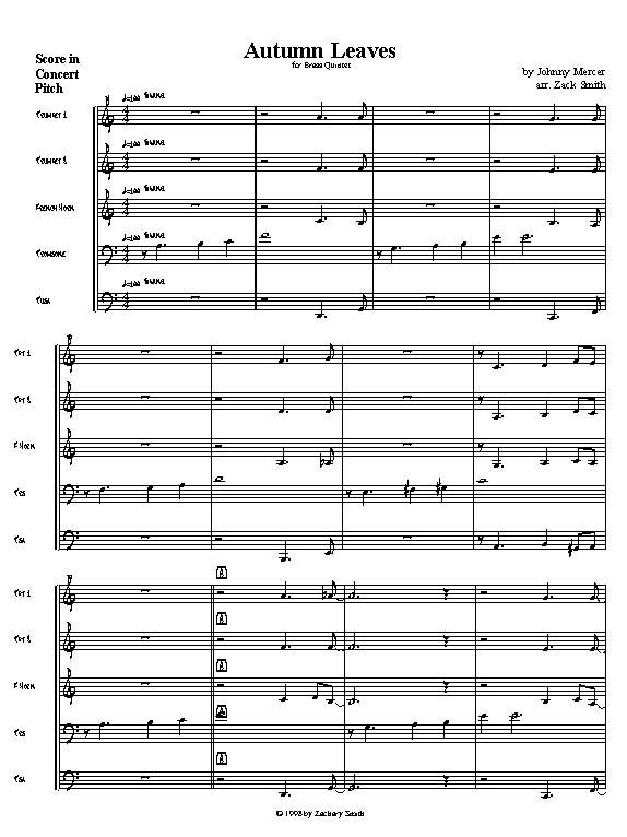 Quintessential Brass Repertoire - Autumn Leaves