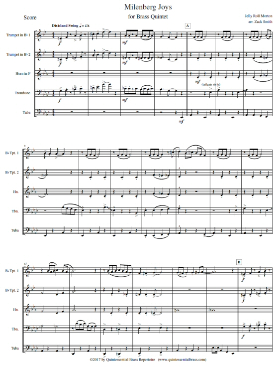 Quintessential Brass Repertoire Milenberg Joys
