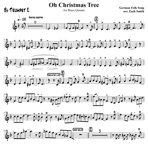 The Song Oh Christmas Tree: Zachary Smith Publications