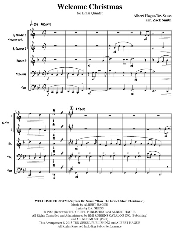 How The Grinch Stole Christmas Lyrics.Quintessential Brass Repertoire Welcome Christmas