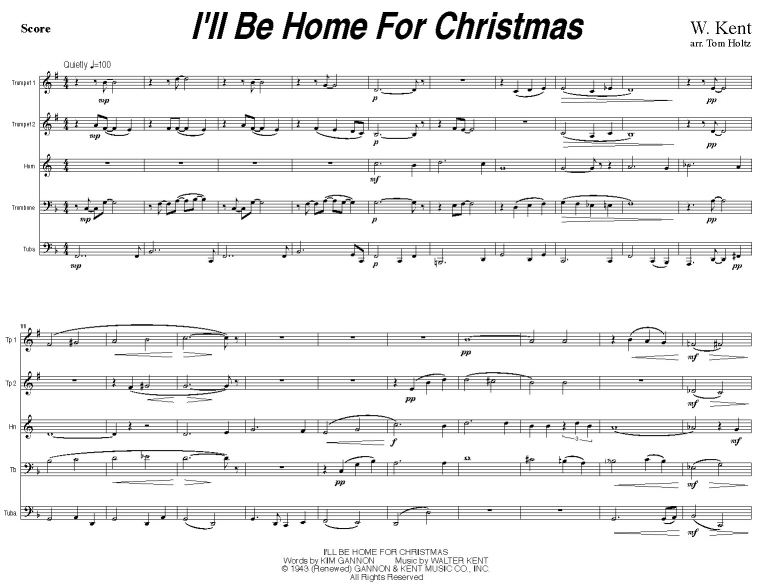 Ill Be Home For Christmas Sheet Music.Quintessential Brass Repertoire I Ll Be Home For Christmas