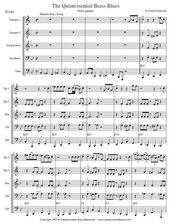 Quintessential Brass Repertoire - Quintessential Brass Blues